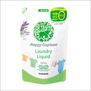 ハッピーエレファント 液体洗濯洗剤 詰替え 720ml