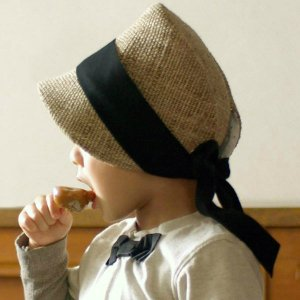 飾りリボンの麦わら帽子 kubomi(クボミ)