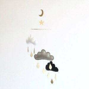 Mobile 3clouds on a ring with moon&star PARIS The Butter Flying(ザ・バターフライング)