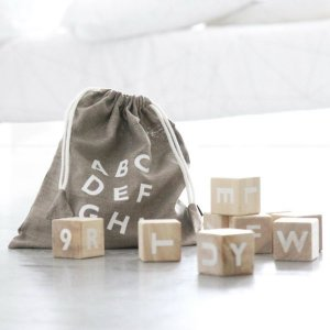 ooh noo Alphabet blocks white