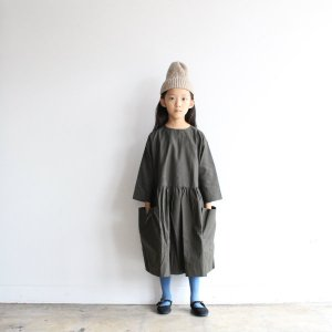 AS WE GROW Pocket dress Long Sleeve / olive