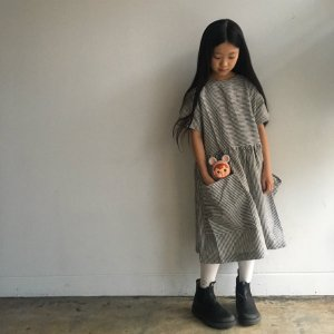 <img class='new_mark_img1' src='https://img.shop-pro.jp/img/new/icons14.gif' style='border:none;display:inline;margin:0px;padding:0px;width:auto;' />AS WE GROW Pocket dress  / Stripe Linen