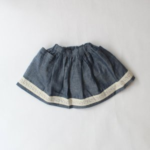 <img class='new_mark_img1' src='https://img.shop-pro.jp/img/new/icons14.gif' style='border:none;display:inline;margin:0px;padding:0px;width:auto;' />AS WE GROW Pocket skirt  / Blue Linen