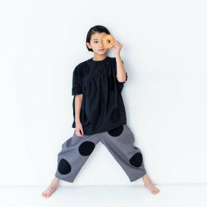 <img class='new_mark_img1' src='https://img.shop-pro.jp/img/new/icons14.gif' style='border:none;display:inline;margin:0px;padding:0px;width:auto;' />UNEVEN DOTS BIG PANTS GRAY    フランキーグロウ(FRANKY GROW )