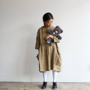 <img class='new_mark_img1' src='https://img.shop-pro.jp/img/new/icons14.gif' style='border:none;display:inline;margin:0px;padding:0px;width:auto;' />AS WE GROW Pocket dress  / Linen Brown