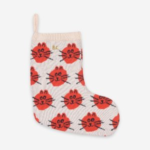 <img class='new_mark_img1' src='https://img.shop-pro.jp/img/new/icons14.gif' style='border:none;display:inline;margin:0px;padding:0px;width:auto;' />CAT JACQUARD FUN KNITTED SOCK /  BOBO CHOSES aw20 FUN COLLECTION CAPSULE
