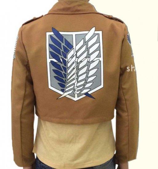 進撃の巨人 調査兵団 リヴァイ兵長 ジャケット コート 紋章 コスプレ衣装