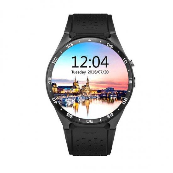 スマートウォッチ KW88 Android5.1搭載 スマートブレスレット アンドロイド 丸形 腕時計 スマートフォン ス…