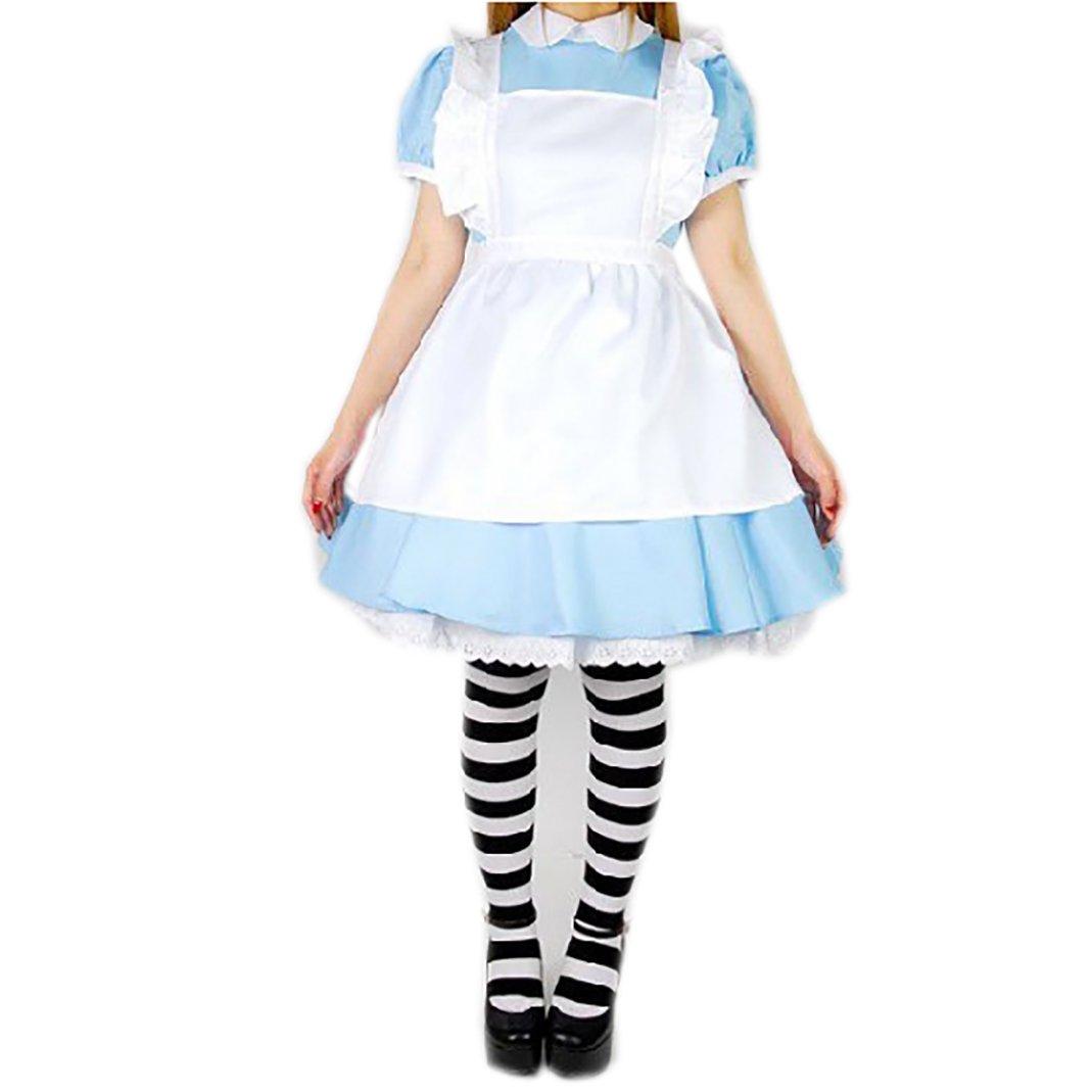 e3501f8142b9b 不思議の国のアリス メイド風ワンピースセットメルヘン コスプレ 衣装 ...