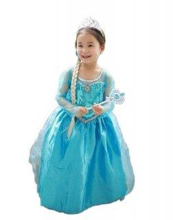 5098cc5a37539 コスプレ衣装 子供用ドレス アナと雪の女王 エルサ 子供用ワンピース Frozen
