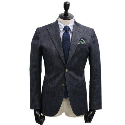 デニムスーツ<br>【LIN】(NAVY・ネイビー)スーツ<br>クロキ10ozデニム使用