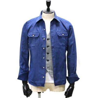 デニムカジュアルジャケットシャツ<br>(ワンウォッシュ)