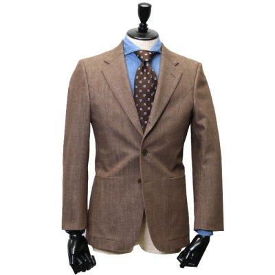 デニムスーツ<br>【CHAM】(BROWN・ブラウン/茶)スーツ<br>11.5oz