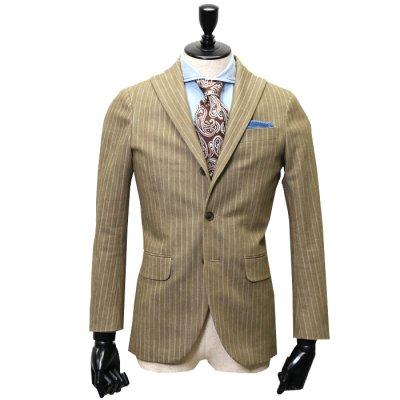 デニムスーツ<br>【GRACE】(KHAKI/カーキ)スーツ<br>ヘリンボンデニム