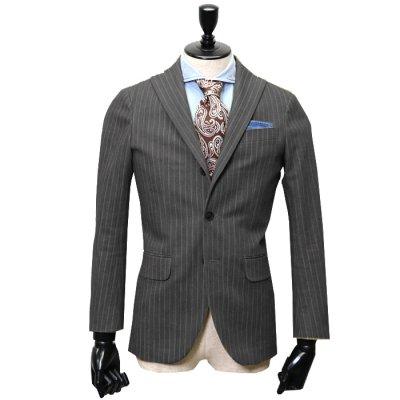 デニムスーツ<br>【GRACE】(BLACK/ブラック/黒)スーツ<br>ヘリンボンデニム