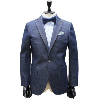 本藍セルヴィッチデニムスーツ<br>【SUIZEN】(NAVY・ネイビー/紺)スーツ<br>13oz リジット