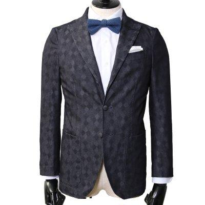 透かし織りデニムスーツ<br>【Mark】(NAVY・ネイビー/紺)スーツ<br>8oz