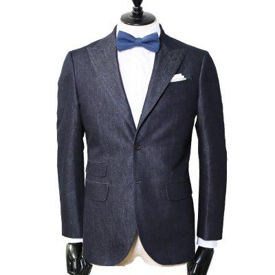 シルクデニムスーツ<br>【Silk】(NAVY・ネイビー/紺)スーツ<br>9oz