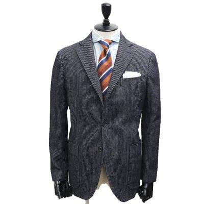 コーデュロイデニムスーツ<br>【CODE】コールテン(ワンウォッシュ/紺)スーツ<br>12oz 製品洗い