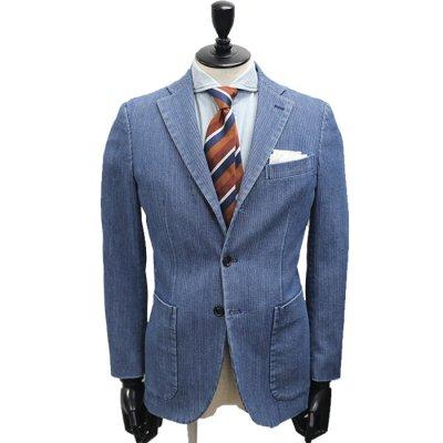 コーデュロイデニムスーツ<br>【CODE】コールテン(ブリーチ/紺)スーツ<br>12oz 製品洗い