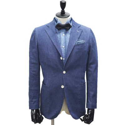 色落ちしないデニムスーツ<br>【Childish Denim】(BLUE・ブルー/青)スーツ<br>6.5oz