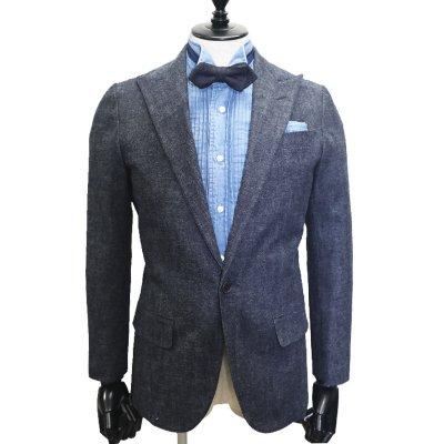 デニムスーツ<br>【WOOLY】(NAVY・ネイビー)スーツ<br>セルビッチ12ozデニム使用