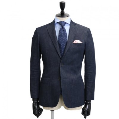 デニムスーツ<br>【SORA】(DARKNAVY)スーツ