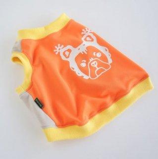POPクールタンク オレンジ×グレー ラーナくんプリント  冷え冷えクールタンクトップ