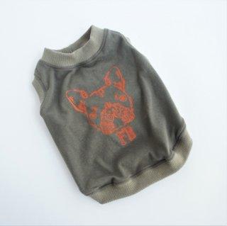 【セミオーダー】タンクトップ/JUNBULL/迷彩柄+カーキ/伝プリント (オレンジ色)