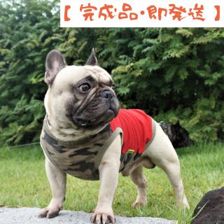 【完成品・即発送】タンクトップ/JUNBULL/迷彩柄+レッド/伝七プリント
