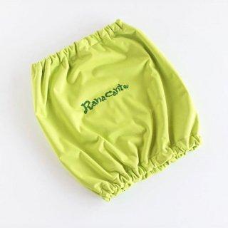 Ranacante/レインスヌード/ネオングリーン/ロゴのみプリント