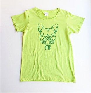 伝七フロントプリントのTシャツ カラー:グリーン