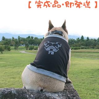 【完成品・即発送】タンクトップ/JUNBULL/モノトーン/ブラック/伝七プリント