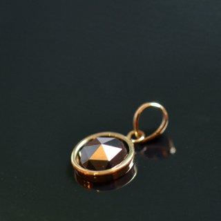 【K18】ブラックダイヤモンド/国産加工ペンダントトップ