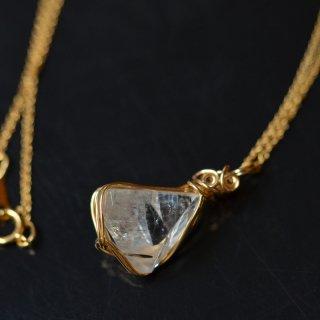 【一点もの】K14GFワイヤー原石ペンダント/アポフィライト(インド産)