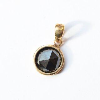 【K18】ブラックダイヤモンド/日本製18金ペンダントトップ