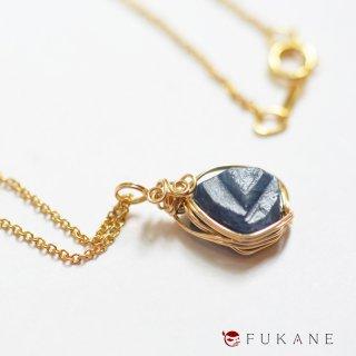【一点もの】14KGF原石ワイヤーラップペンダント/サファイア(アフリカ産)