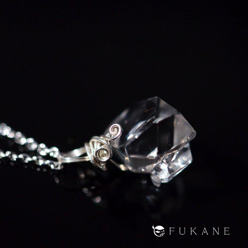 ハーキマーダイヤモンド/SV925ペンダント−3