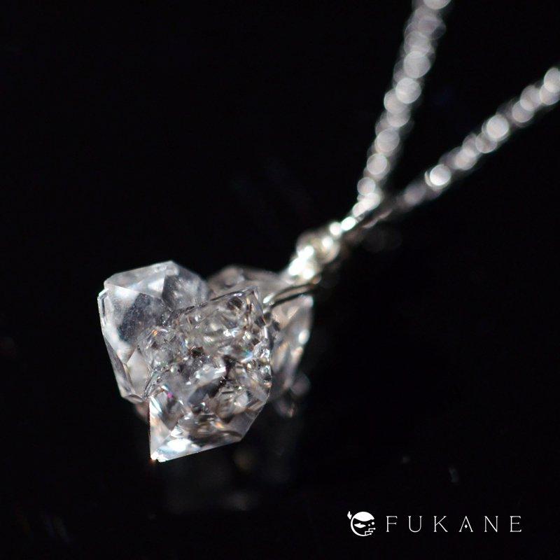 【N様専用】ハーキマーダイヤモンド/SV925ペンダント−6