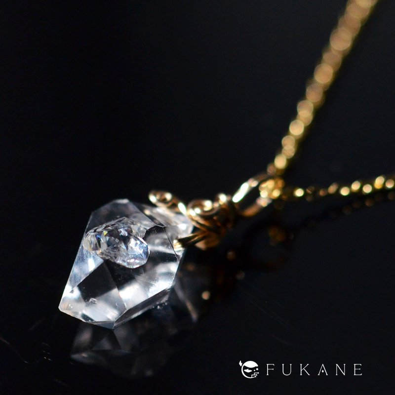 ハーキマーダイヤモンド/14KGFペンダント−1