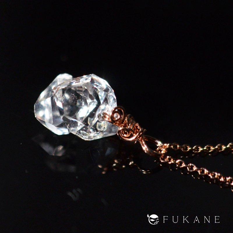 ハーキマーダイヤモンド/14K-pink-GFペンダント−2