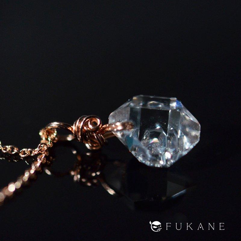 ハーキマーダイヤモンド/14K-pink-GFペンダント−3