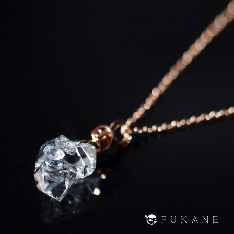 ハーキマーダイヤモンド/14K-pink-GFペンダント−5