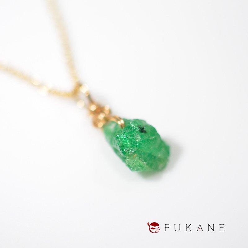 ツァボライト(タンザニア産)/鉱物ペンダント14KGF