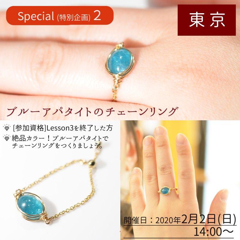 《特別企画その2》2月2日(日) 【東京】ブルーアパタイトのチェーンリング