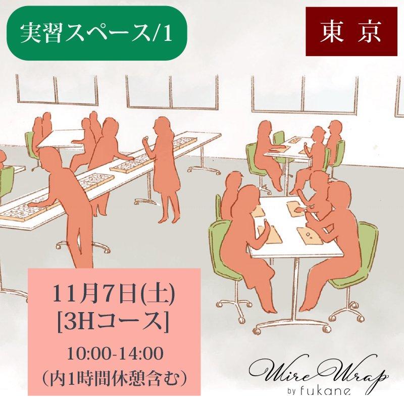 <img class='new_mark_img1' src='https://img.shop-pro.jp/img/new/icons13.gif' style='border:none;display:inline;margin:0px;padding:0px;width:auto;' />《実習スペース/1》11月7日(土)[3Hコース]10:00-14:00【東京】