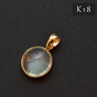 【K18】国産加工ペンダントトップ/ムーンストーンAAAAA(インド産)