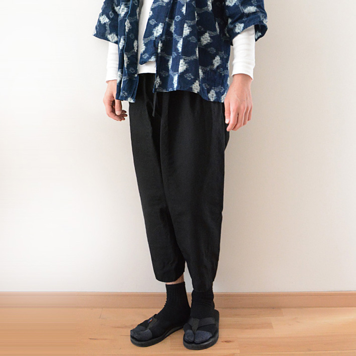 Monpe Pants FUNS Black Japan Vintage before The War モンペ パンツ 黒 ジャパンヴィンテージ 戦前