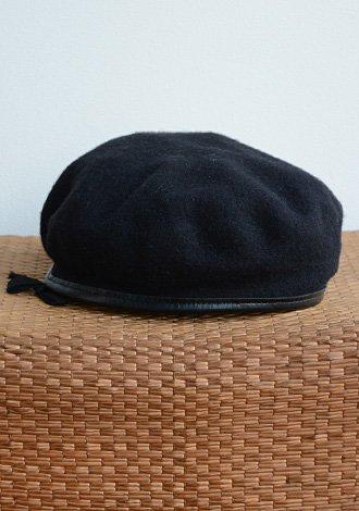 デッドストック 米軍実物 ミリタリー ウール ベレー帽 黒 ブラック Deadstock U.S.ARMY Military Beret Wool Black