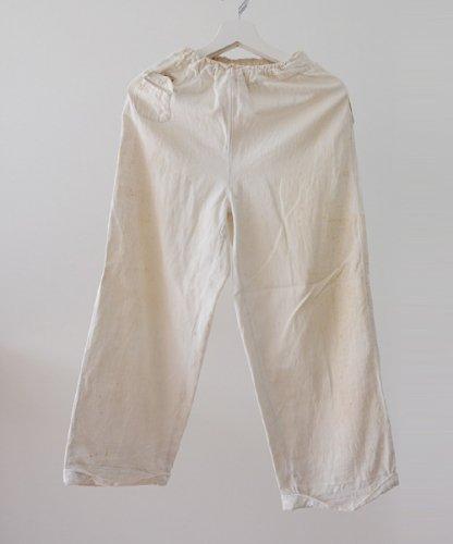 ジャパン ヴィンテージ 50年代 ゴムウエスト コットン パンツ | Japan Vintage 50s Spitz Cotton Pants White